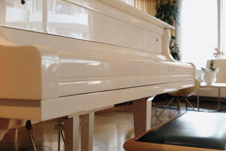Close-Up Of Piano At Home