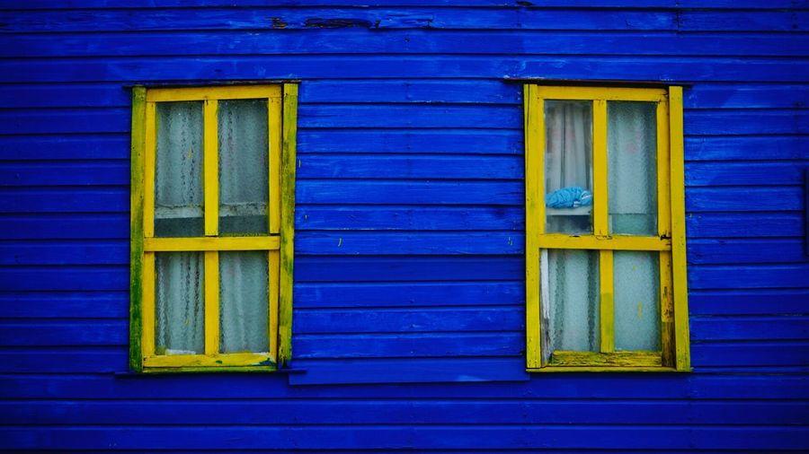 Colores de colombia isla de san Andrés Blue Building Exterior Architecture Built Structure Door Outdoors No People Window
