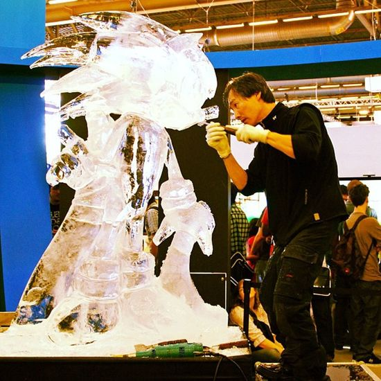 Sonic in progress... Japan Expo Sonicthehedgehog Ice Sculpture