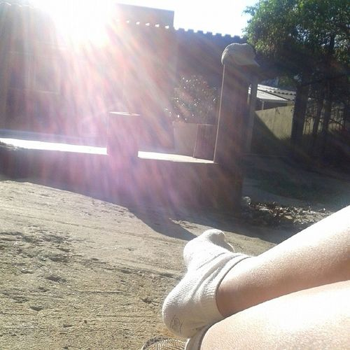 A manhã de domingo no solsinho pra esquentar com esse céu limpinho !! GuapiqueAmo