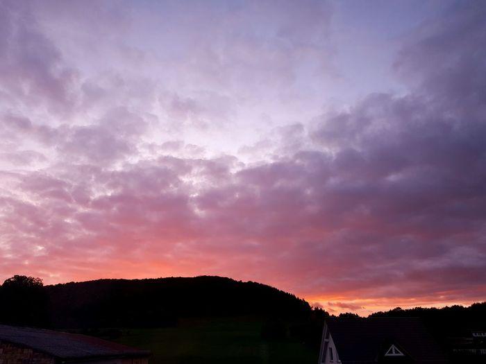 Dramatic Sky Landscape Scenics Beauty In Nature Sunset Nature Purple Outdoors Sky No People Cloud - Sky Multi Colored
