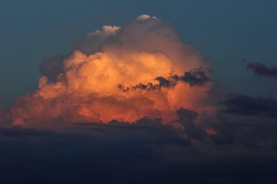 Cloud Blasting Cloud Sunset Exploding Sky Cloud - Sky Sky Only