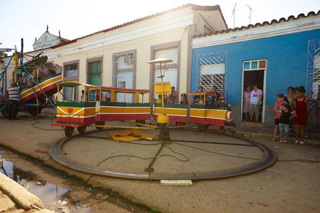 Parrandas De Remedios Carnival Cuban Life Fair Rides Kid Old But Awesome Parrandas De Remedios Street Party Train Ride Vintage