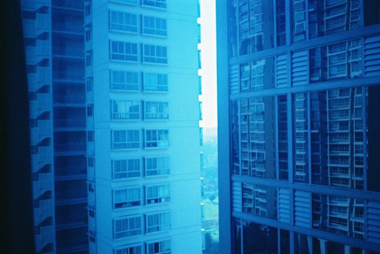 Architecture Blue Building Exterior City Day No People Outdoors Reflection Singapore Window Windows