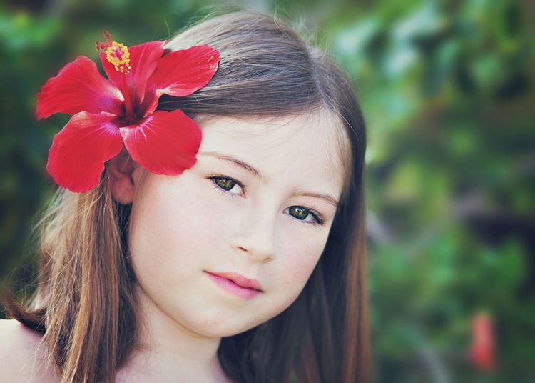 Aloha Girl Big Island Hawaii Brown Hair Child Portrait Close-up Fashion Flower Flower In Hair Focus On Foreground Green Eyes Hapa Hapa HAPA Kids Hawaii Hawaii, 2010  Head And Shoulders Headshot Hibiscus Human Face Island Girl Leisure Activity Lifestyles Looking At Camera Mixed Race G Portrait Taking Photos