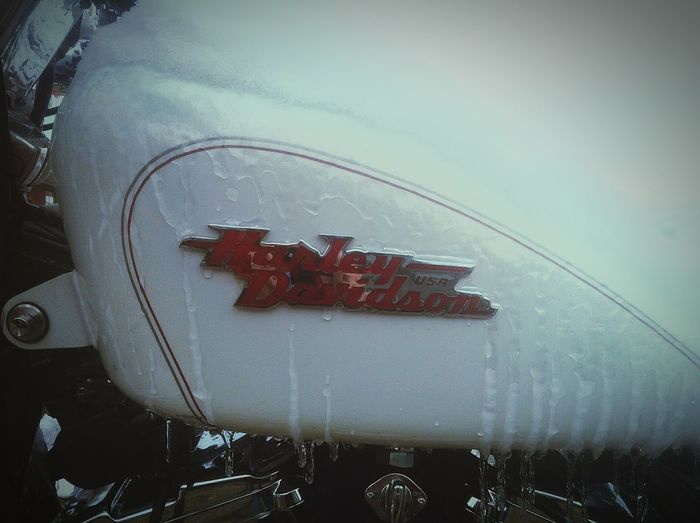 Flashback to a tough winter Harleydavidson Motorcycles Cooling  Winter Ice