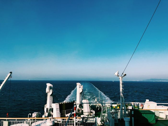 Travel Trip Ship EyeEm Selects Sea Blue Water Day Nature Horizon Over Water Sky No People Clear Sky