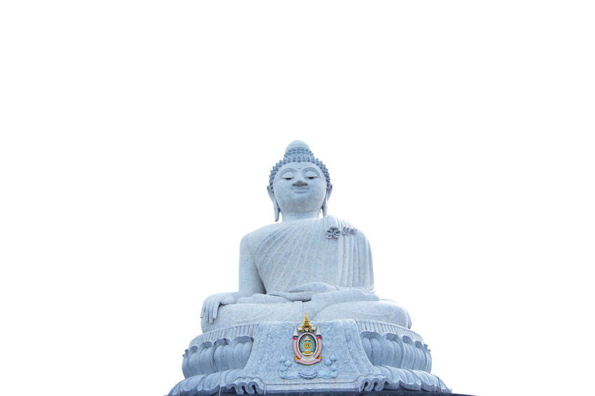 Buddha isolated Art And Craft Buddha Image Buddha Isolated Buddha Statue Buddhism Buddhist Clear Sky Copy Space Creativity Culture Day Human Representation Idol Low Angle View Male Likeness No People Outdoors Religion Religions Sculpture Sky Spirituality Statue Thailand