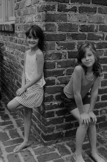 Cousins family! Downtown Charleston,Sc Two People Childhood Full Length Brick Wall Girls Child Real People Day Children Only Standing Leisure Activity Lifestyles Friendship Togetherness Portrait Outdoors People (null)Girl Power The Week On EyeEm