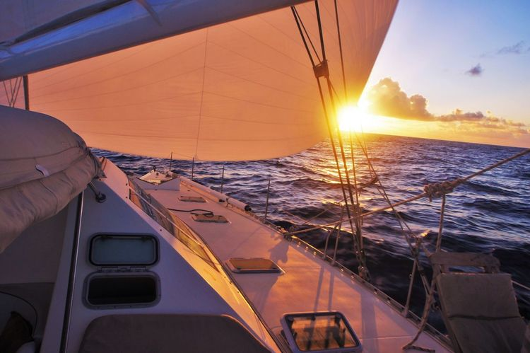 Atlantic ocean Sea Sunset Nautical Vessel Transportation Business Finance And Industry Mode Of Transport Luxury Sailing Vacations Sunlight Sun Boat Deck Ship No People Yacht Sailing Ship Outdoors Water Modern Sky EyeEmNewHere