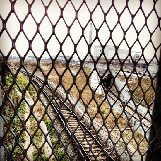 Fence Mesh Overland Londonoverground tunnel tunnels factory industry