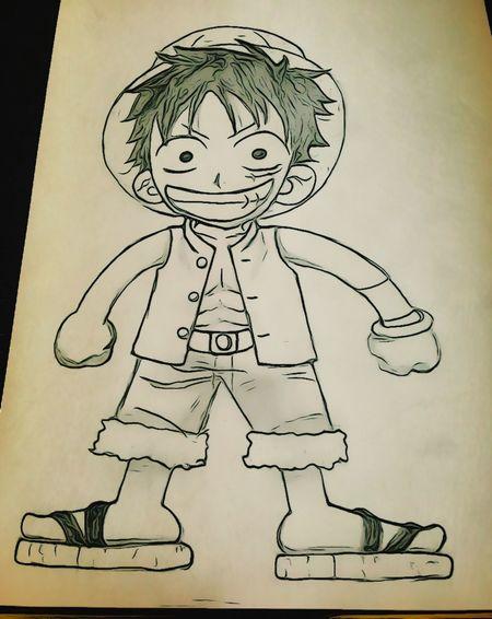 我只能画这么简单的东西了 Luffy ❤️?