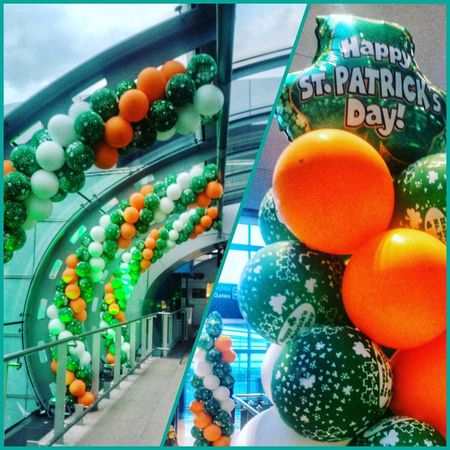 Multi Colored Balloon Food And Drink Food Day Indoors  No People Saint Patrick's Day Ireland🍀 Irlande Dublin, Ireland Airportphotography Ireland Lovers Eyeemphotography SAINT PATRICKS DAY Green Color Orange Color