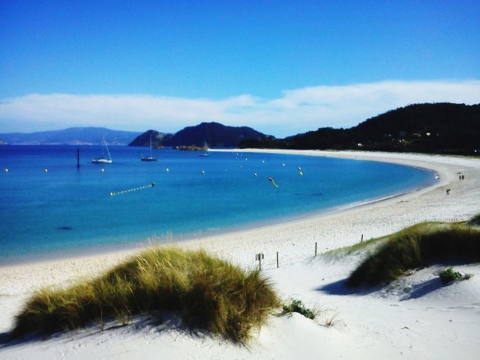Sea Beach Blue Nature Sky Water Beauty In Nature Day Tranquil Scene Horizon Over Water Tranquility Travel Travel Destinations Landscape Nature Vacations Clear Sky Tourist Islas Cies Spain My Best Travel Photo
