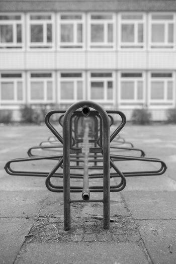 No school today Architecture Bicycle Rack Black And White Blackandwhite Canon Metal Monochrome No People Outdoors Sigma 35mm Art Symmetry
