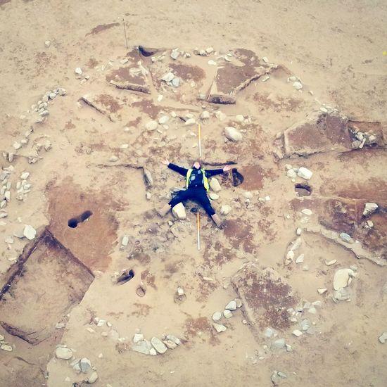 Archeology Iron Age Round House Dunragit Spreadeagle