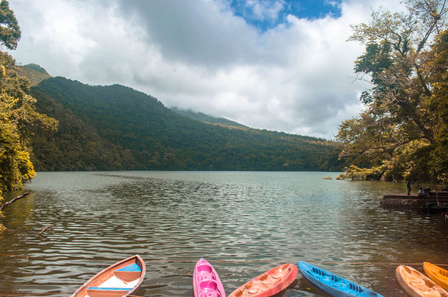 Bulusan Lake Active Volcano Adventure ASIA Beauty In Nature Boat Bulusan Lake Canoe Day Eyeem Philippines Kayaking Lake Mountain Nature No People Outdoors Philippines Scenics Sky Tourism Tranquility Travel Tree Vacations Volcano Water