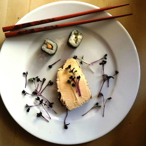 Sushi Kresse Lachs Frischkäse mit echten Stäbchen aus China Food Healthy Food Foodlover Foodpic