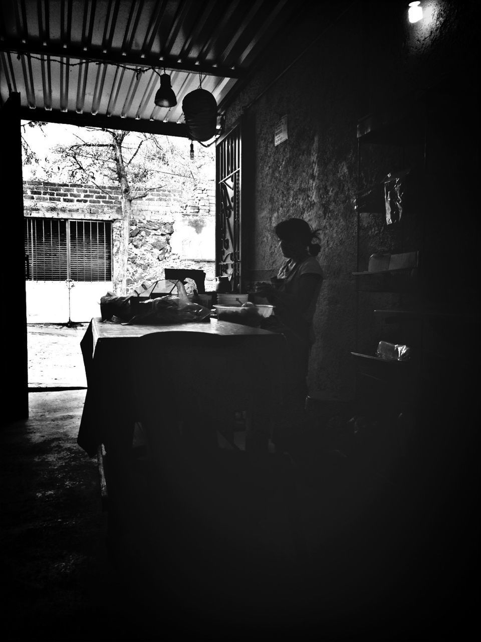window, indoors, real people, day, architecture, one person, people