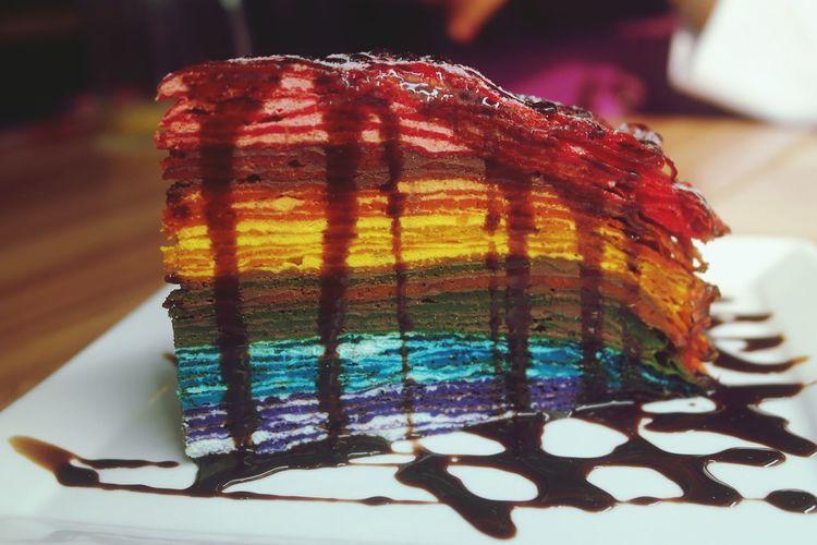 Damn RainbowCrepeCake 🍰 Dessert Porn