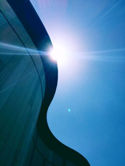 イオンモール幕張 Sky Sun Lens Flare Sunlight Blue Sunbeam Architecture Low Angle View Nature Day No People Bright Sunny City Clear Sky