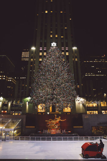 Building Exterior Celebration Christmas Christmas Christmas Decoration Christmas Lights Christmas Tree City City Cityscape Downtown District Holiday - Event Illuminated Lights Manhattan New York New York City Night Nightlife Rockefeller Center Sky Skyscraper Travel Destinations Urban Skyline Winter The Street Photographer - 2017 EyeEm Awards