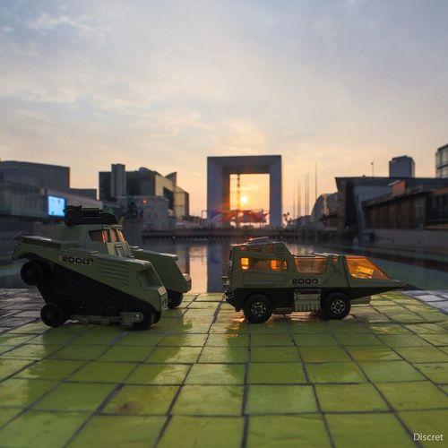 Matchbox La Grande Arche Sunset