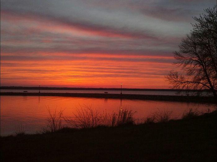 Sunset Pennsylvania Pymatuning