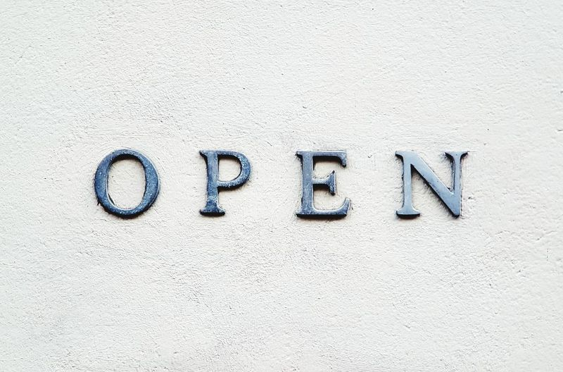 Text Communication Single Word Textured  Closed Shop Store Store Sign Storefront Open Sign Open Spaces Opening Open Your Eyes Letters In The City Open Cover Backgrounds Copy Space Text Letters On The Wall
