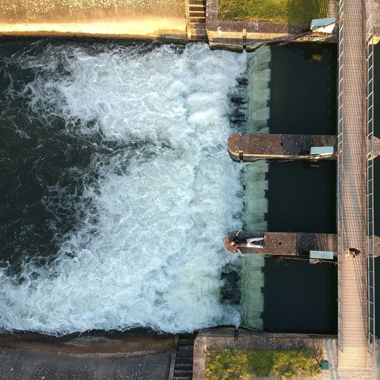 Dronephotography Man Canal Drone  Water Window