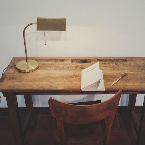 Empty chair and dining table
