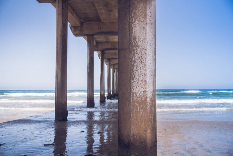 La Jolla California Fun San Diego Architectural Column Architecture Beach Beauty In Nature Day Horizon Horizon Over Water Land Motion Nature No People Outdoors Pier Scenics - Nature Sea Sky Summer Tranquil Scene Tranquility Underneath Water Wave Stay Out