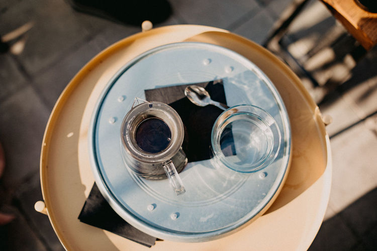 High Angle View Focus On Foreground Close-up Still Life Indoors  No People Drink Food And Drink Household Equipment Refreshment Industry Directly Above Table Coffee Filter Coffee