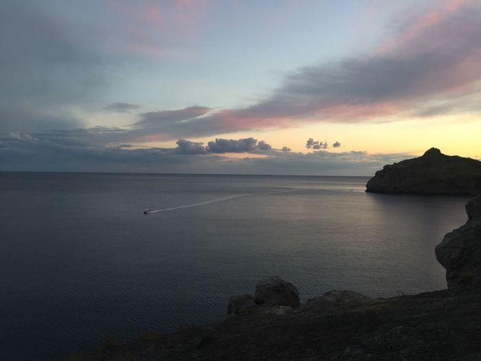 Sea Sunset Sky Calm