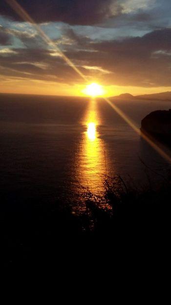 Tramonto da Capo Posillipo Nap Napoli ❤ Napoli Naples, Italy Napoli La Più Bella Del Mondo Sunset Scenics Sea Sun Reflection Dramatic Sky Beauty In Nature Nature Cloud - Sky Tranquility Horizon Over Water Beach