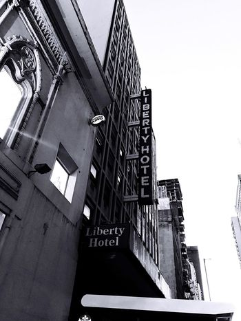 Liberty Hotel Buenos Aires Argentine Argentina Photography Argentina Black & White Blackandwhite Built Structure Architecture Building Exterior Sky Low Angle View Building Clear Sky Day City No People Outdoors Travel Destinations Travel Tall - High History