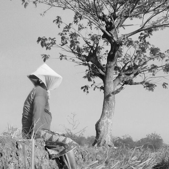 Relax Black & White Indonesia_photography Sawah Camerahpgw Tree