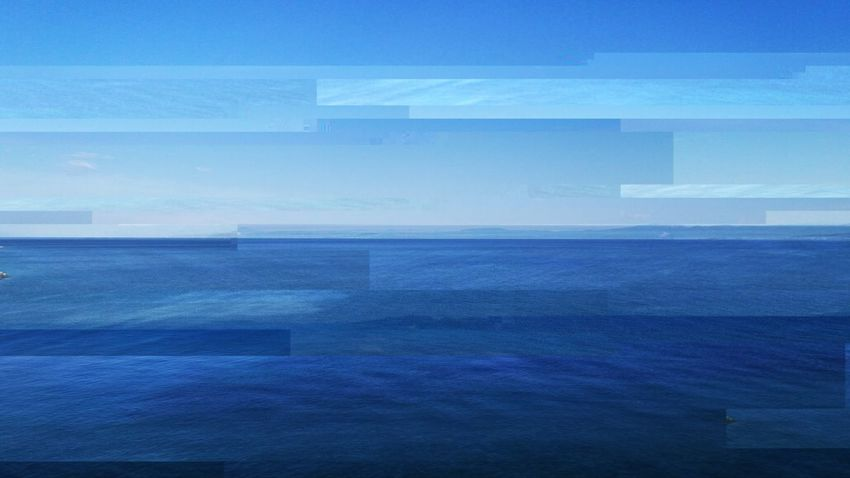 EyeEm Glitched Art Seascape Water Sea Blue Backgrounds Pixelated Cityscape Sky Horizon Over Water Tide Summer Sports