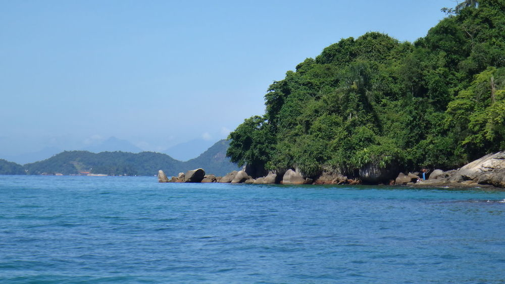 ANGRA DOS REIS RIO DE JANEIRO BRAZIL Cliff Coastline Geology Holiday Horizon Over Water Mountain Nature Outdoors Rock Rock - Object Rock Formation Scenics Sea Tranquil Scene Tranquility Tropical Climate Vacation Vacations Voyage Water
