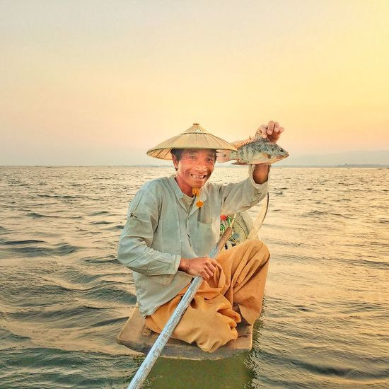 Myanmar Burma Inle Lake Fisherman Fish Lake IPhoneography IPhone