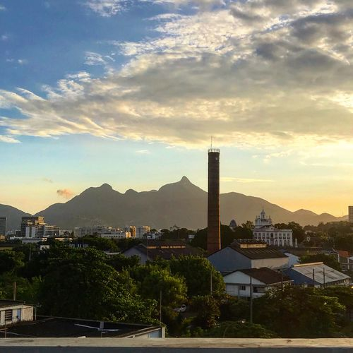 Cores do Rio Architecture Building Exterior Built Structure Sky Cloud - Sky City Building Plant Residential District Cityscape Mountain No People Nature Sunset Tree Outdoors Office Building Exterior Day Travel Destinations Sunlight