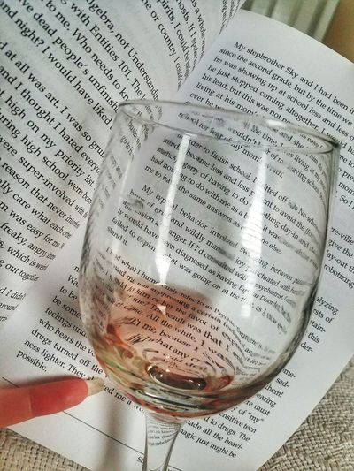 Close-up Books And Wine Bookphotography No People Wine Moments Winelover Winetime