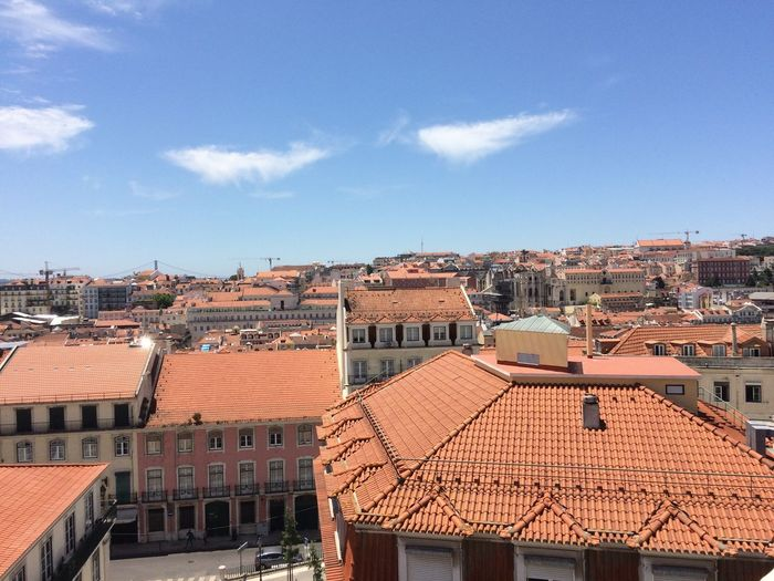 Cityscape Lisbon - Portugal Architecture Built Structure City Day No People Roof Sky Tiled Roof