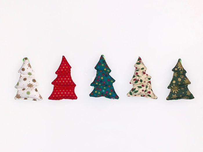Christmas christmas tree Celebration Christmas Decoration Decoration White Background Studio Shot Indoors  No People Art And Craft Holiday Holiday - Event Copy Space Tree Still Life Celebration Event Shape Multi Colored Christmas Ornament