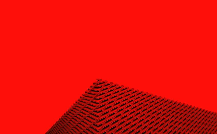 Minimalist Architecture Copy Space Red Colored Background Studio Shot Red Background No People