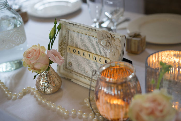 Candle Love Picture Frame Wedding Wedding Reception Close-up Flowers Indoors  Love ♥ No People Table Together Vintage Wedding Wedding Room
