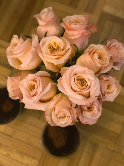 Pink roses 🌹 Party Pink Flower Rose - Flower Petal Fragility Flower Head Bouquet Freshness Beauty In Nature Day Close-up Indoors  Nature No People Vase