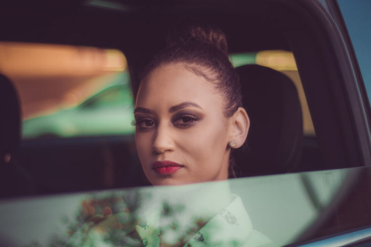 Bye Bye EyeEmReady Fashion Reflection Adult Adults Only Beautiful Woman Businesswoman Car Car Windows Close-up Day Headshot Make Up Model One Person One Woman Only One Young Woman Only Outdoors People Red Lips Transportation Well-dressed Women Young Adult Young Women An Eye For Travel
