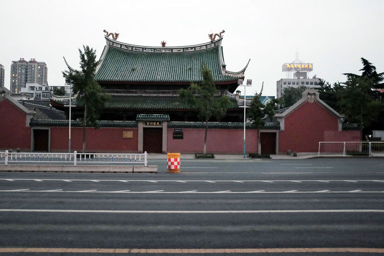 temple China China Photos City Life Cityscapes No Cars  No People Shandong Province Streetphotography Temple - Building Yantai On The Way