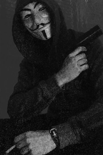 Mask Mafia  Gangsters Paradise Gangsta Gun Anonymous Style Dark Blackandwhite Fuckin Badass Bitch